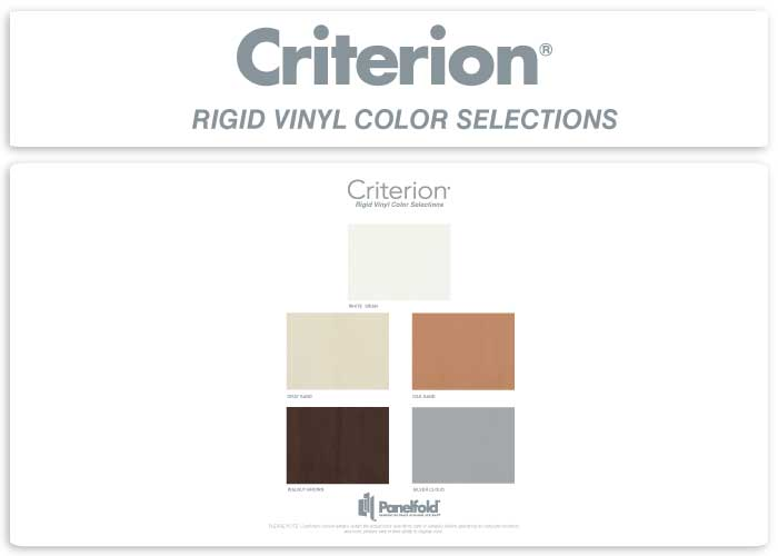 Criterion Rigid Vingl Color Selections